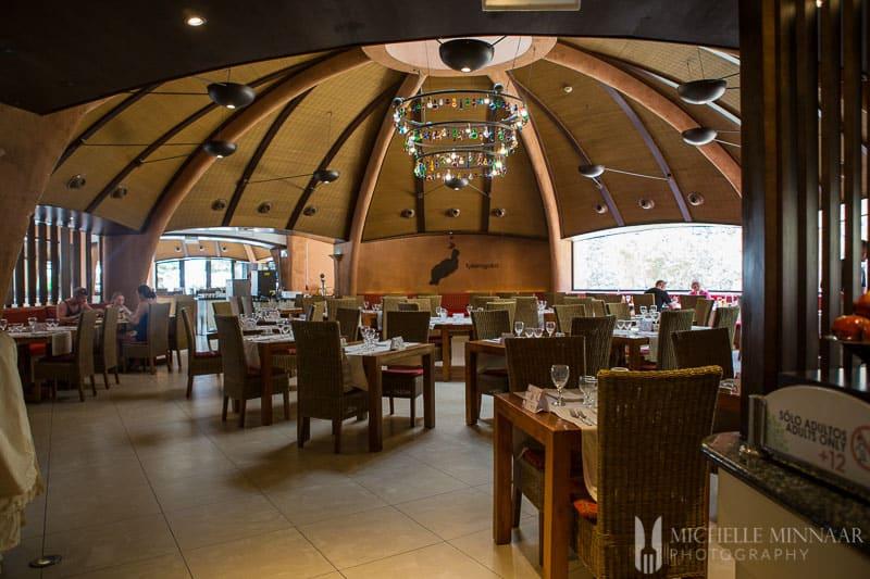 Inside Sandos restaurant