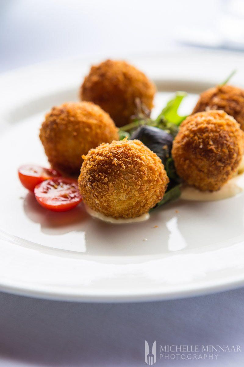 Fried balls of cheese
