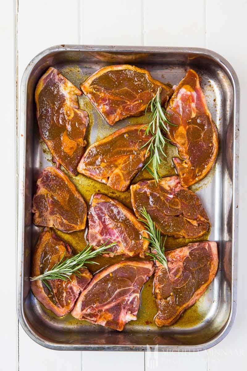 Lamb Chops Curry Marinated