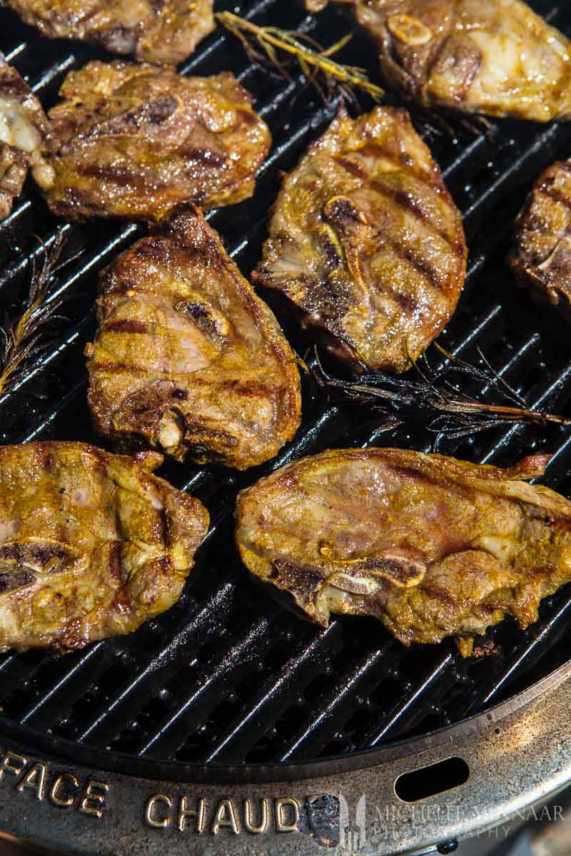 Chump Chops Grilled Lamb