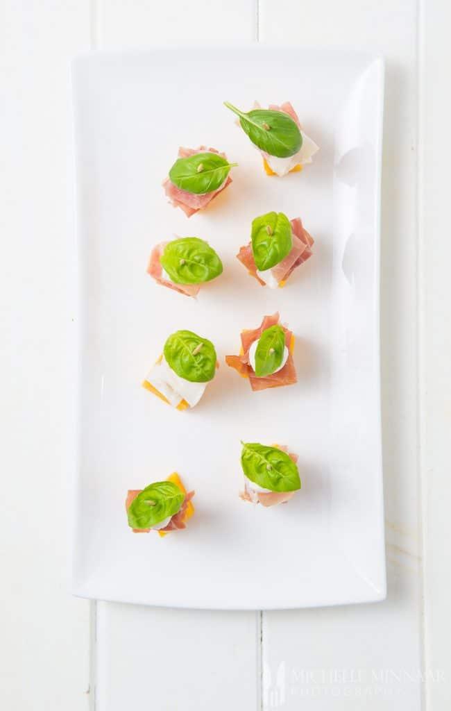 Basil Mango Parma Ham Mozzarella