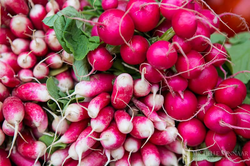 Pink root vegetables