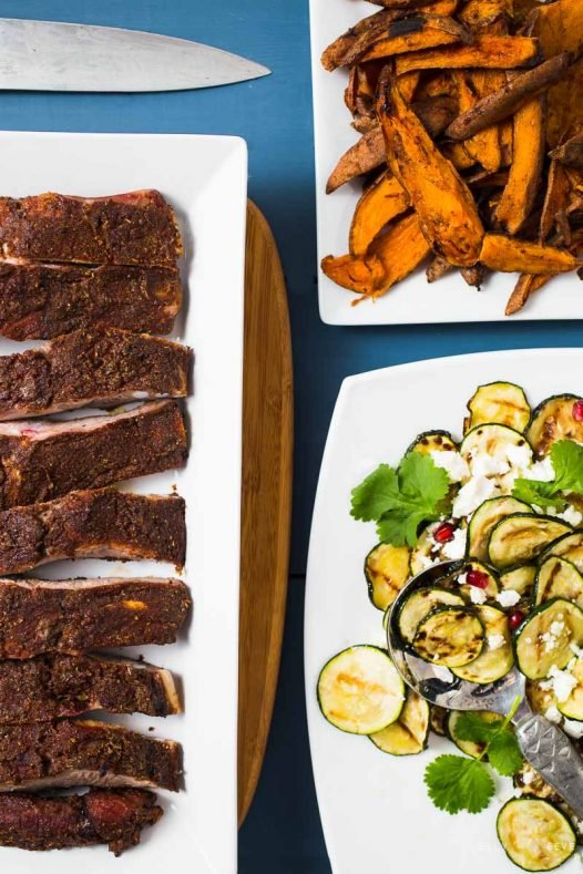 Courgettes Ribs Sweet Potato