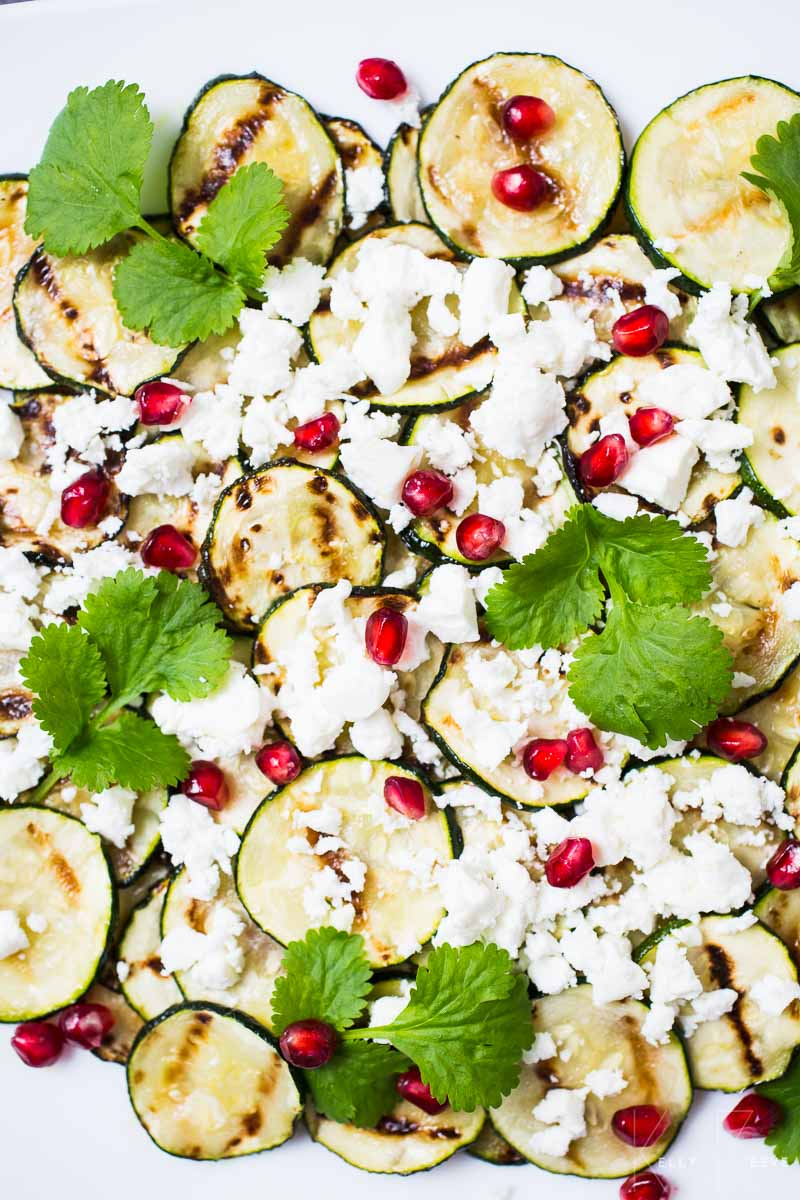Pomegranate Courgette Feta