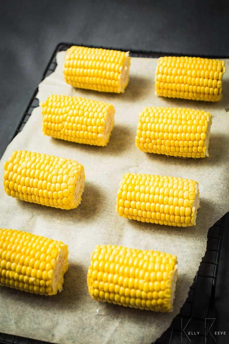 Halved Sweet Corn