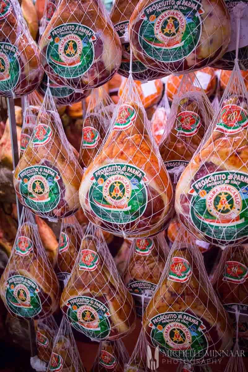 Whole Parma hams