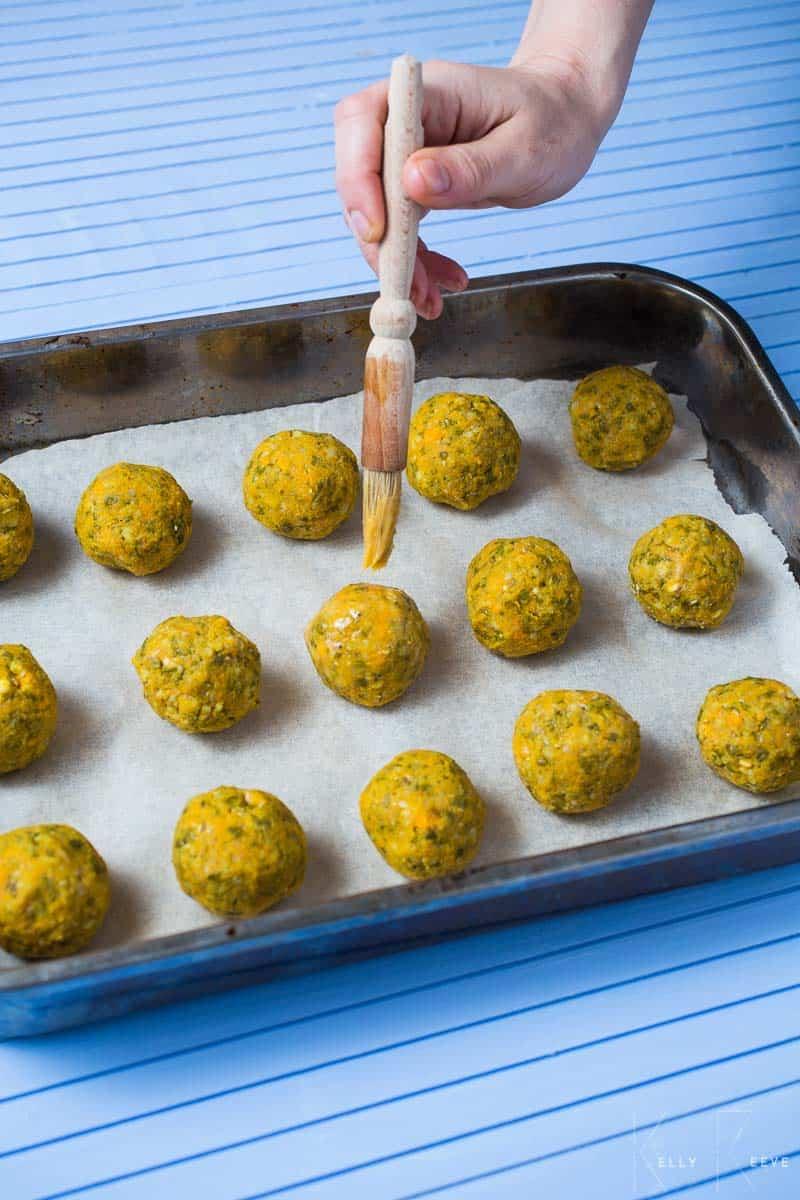 Veg Balls Egg Wash