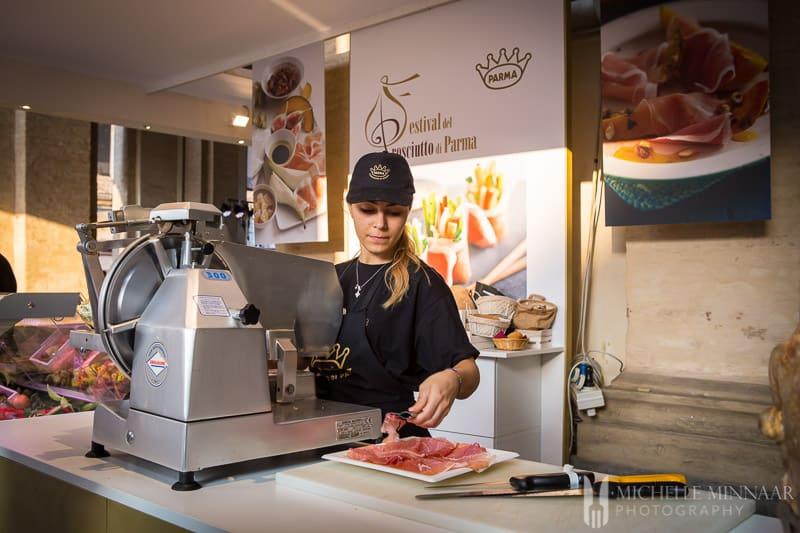 Fresh Parma Ham Slicing