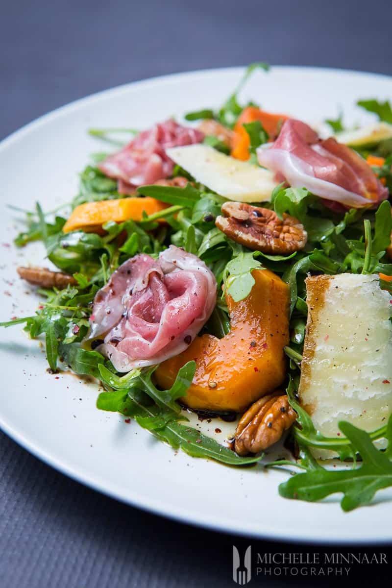 Ham Rocket Paparaya Parmesan
