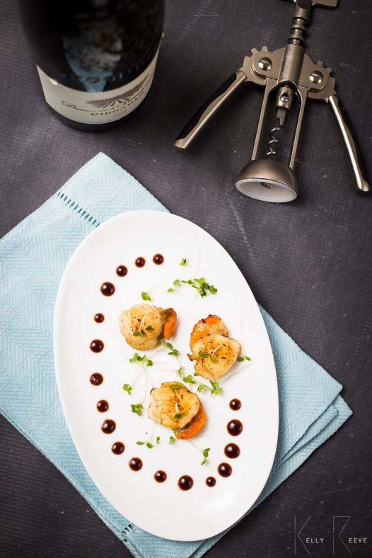 Red Wine Sauce Scallops