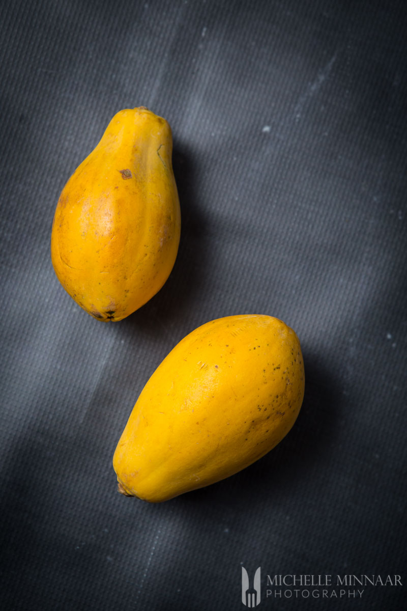 Papayas Two Whole