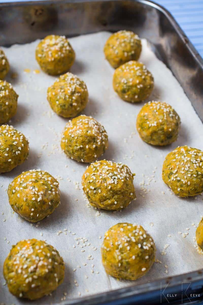 Baking Parchment Veg Balls