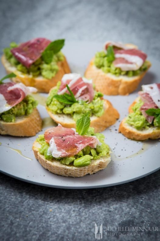 Parma Ham Bruschetta Broadbeans