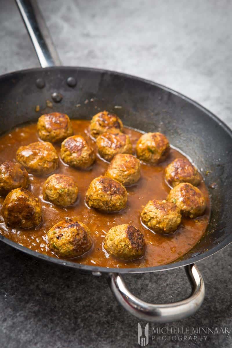 Meatballs Cooked Lamb