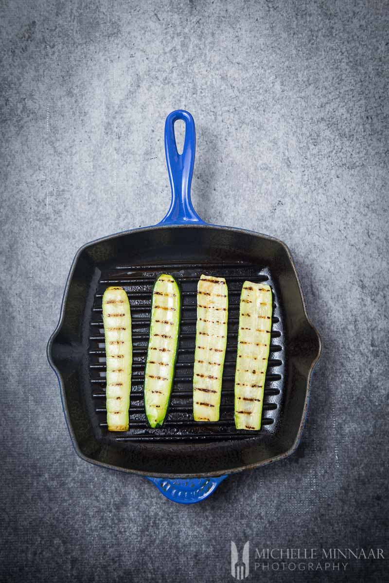 Courgette Slices Grilled