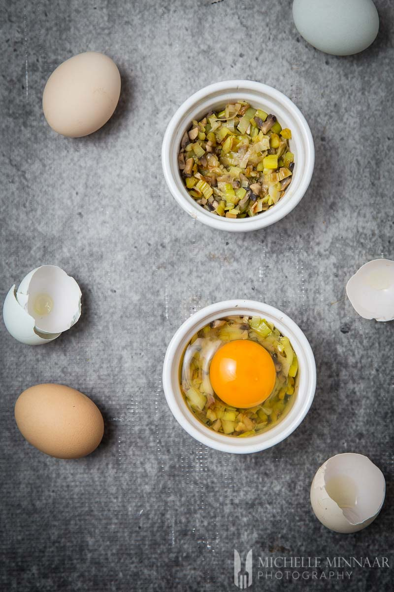 Ramekin Raw Egg