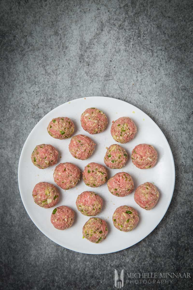 Meatballs Raw Lamb