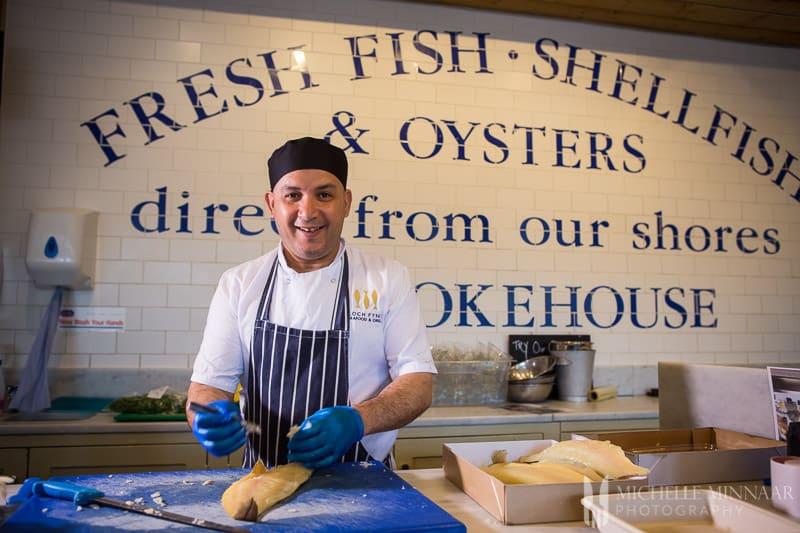 Preparing Fish Chef