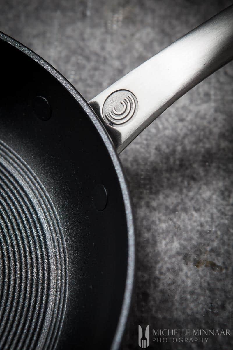 A saute pan handle