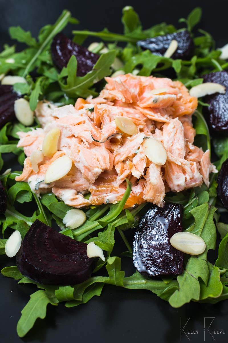 Rocket Salmon Dressing Salmon Beetroot