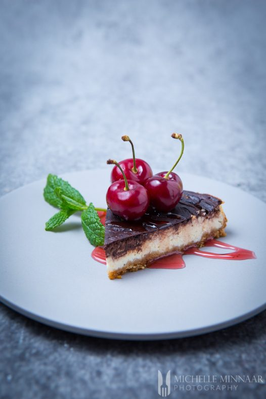Cake Cherries Chocolate Cheese
