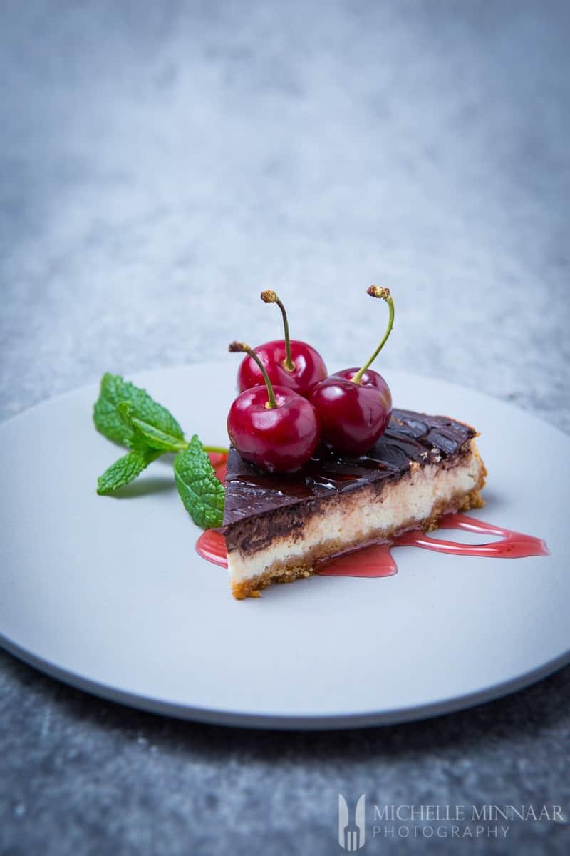 Cake Cherries Chocolate Cheese