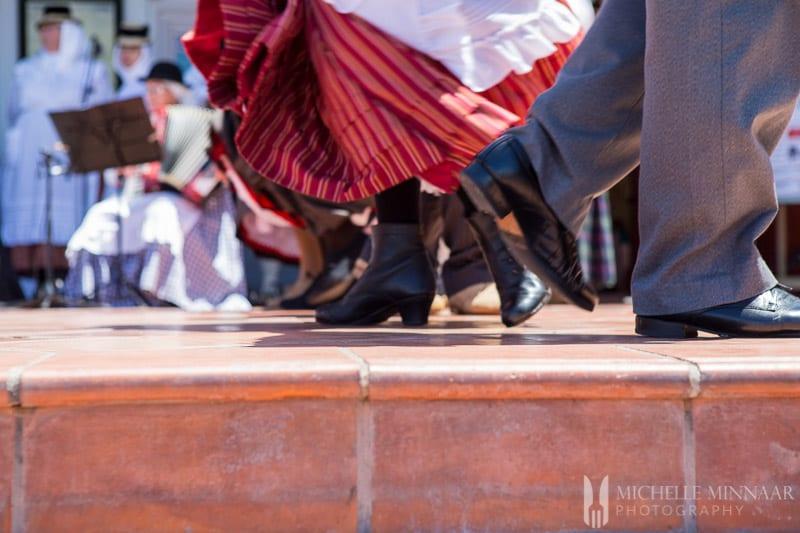 Traditional dancing in Tenerife