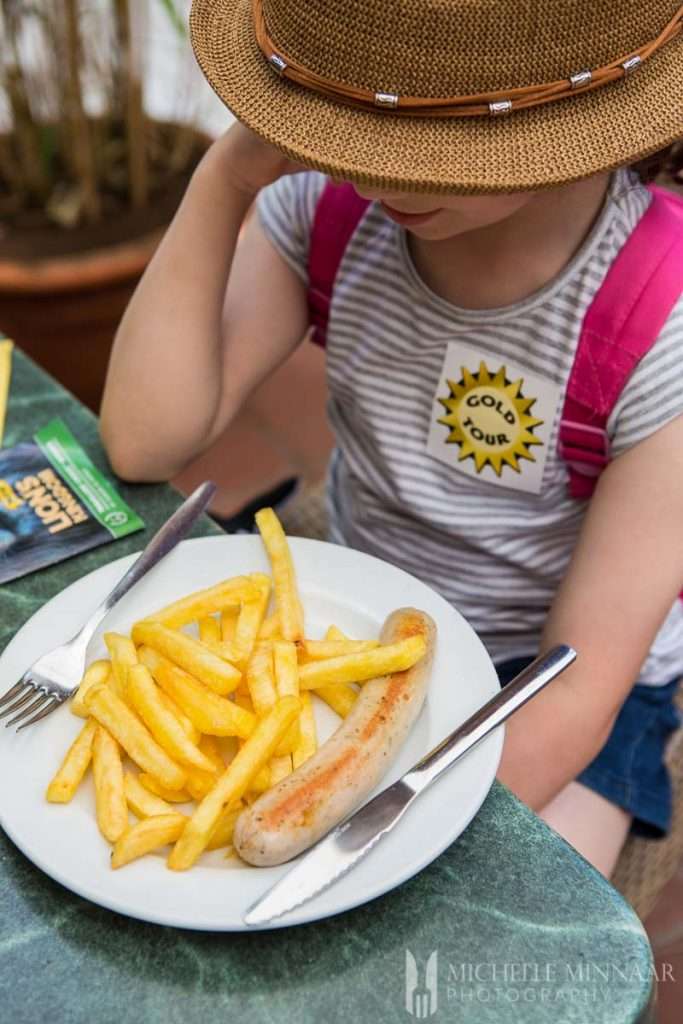 Kid-friendly food at Loro Parque