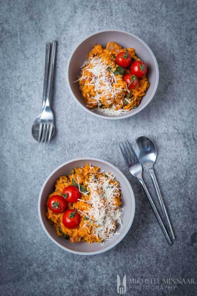 Spinach Pasta Tomato Ham