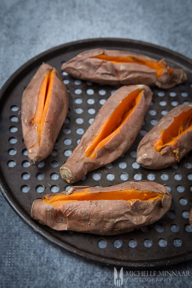 Slit Sweet Potatoes