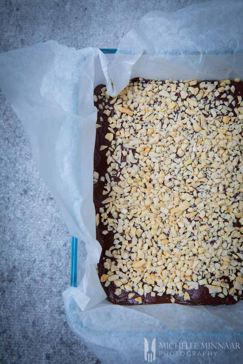 Chopped Nuts Fudge Topped