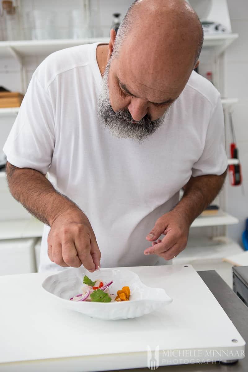 Ceviche Marcostavio Preparing