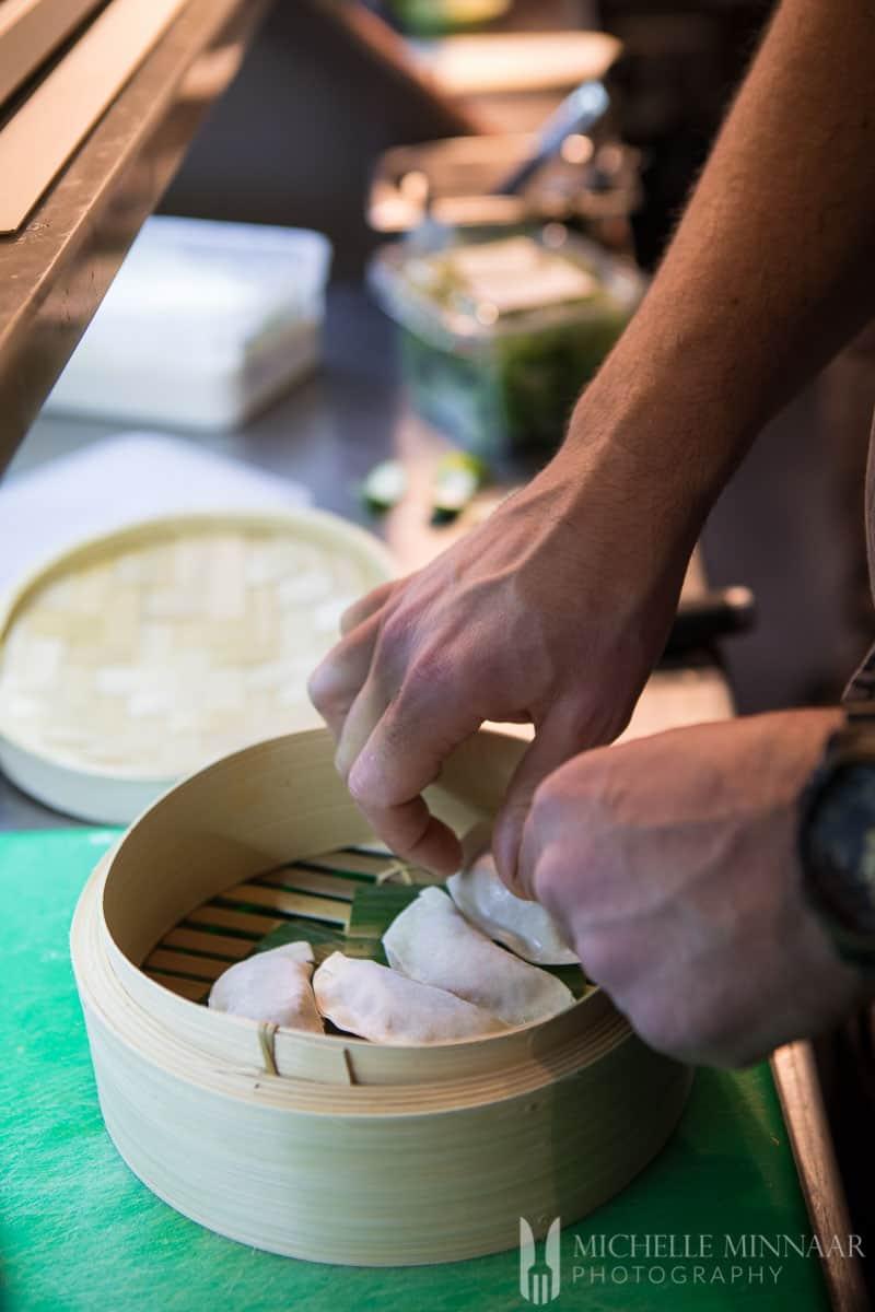 Dumplings Preparing Prawn