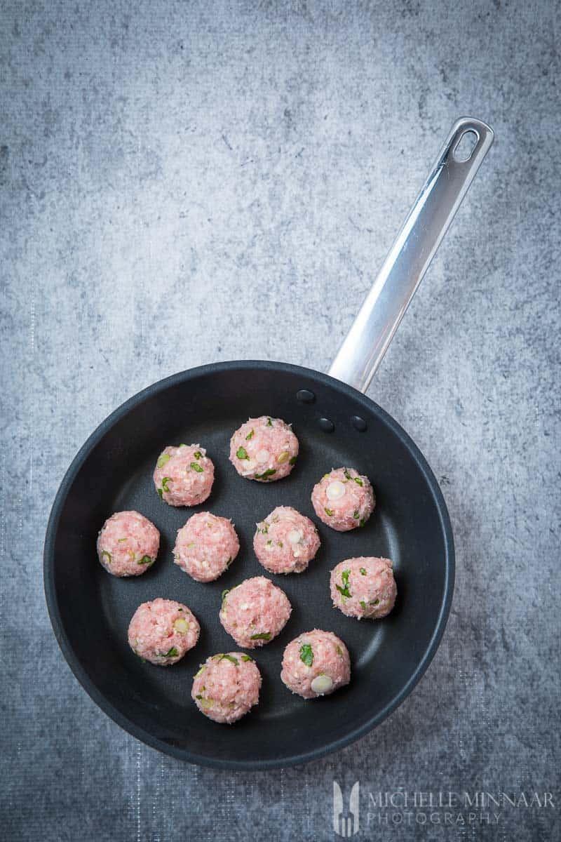 Turkey Meatballs Raw