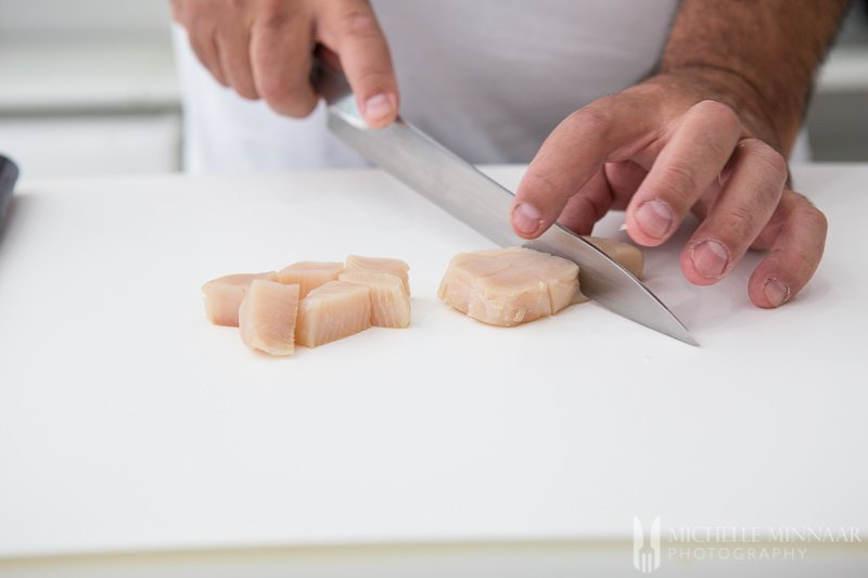Fish Ceviche Slicing
