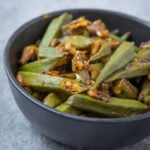 Bhindi ki Sabzi - a close up of fried okra