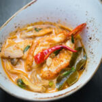 Finished Tom Yum Goong soup recipe