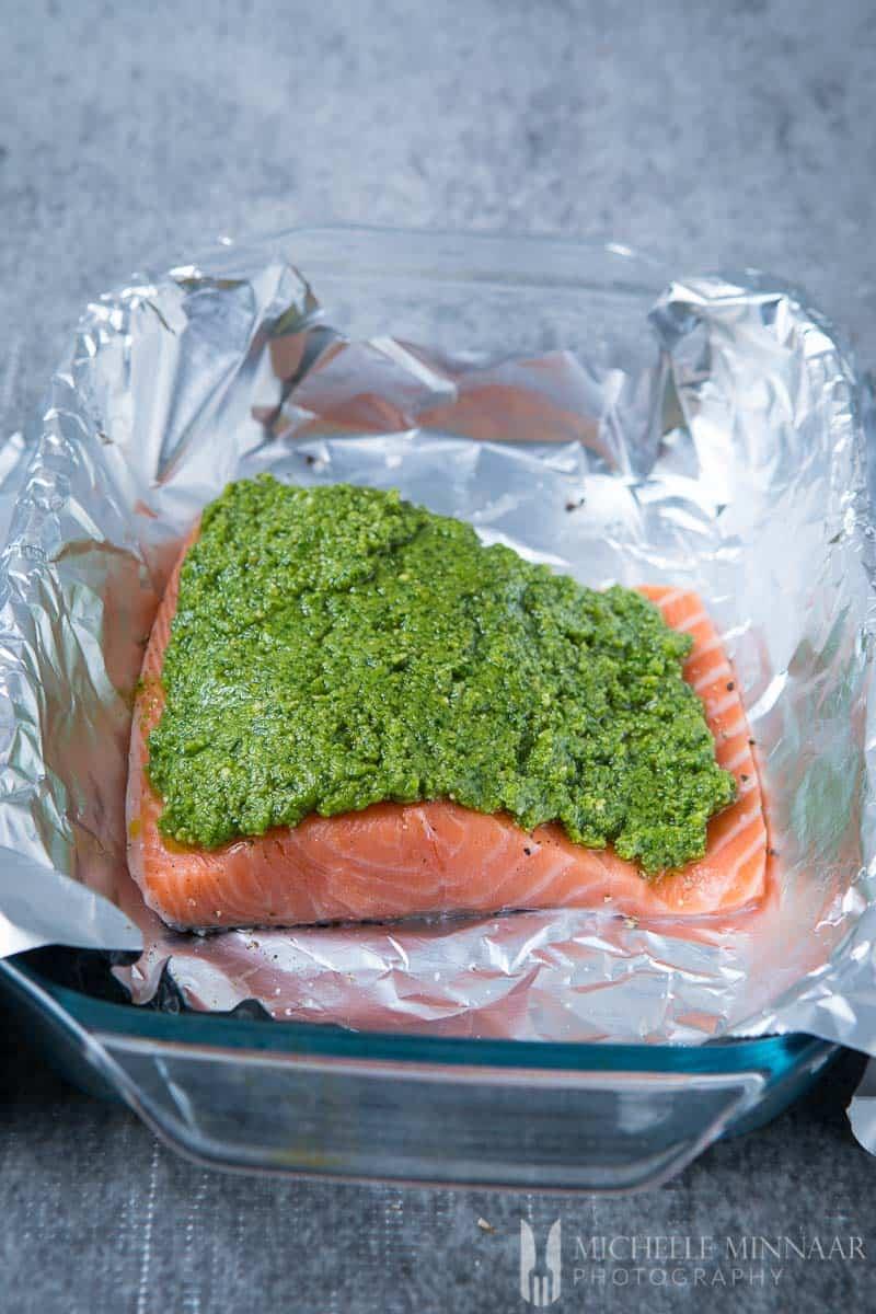 Salmon Cashew Pesto