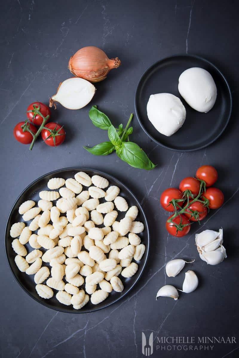 Mozzarella Basil Garlic Gnocchi Tomato