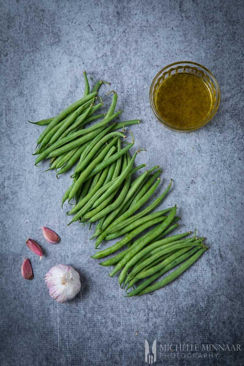 Garlic oil Greenbeans