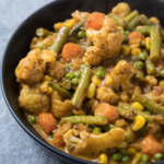 A close up of Vegetable Korma