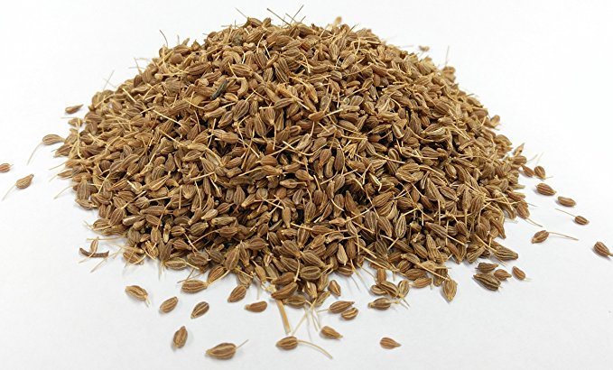 A brown pile of anise seed