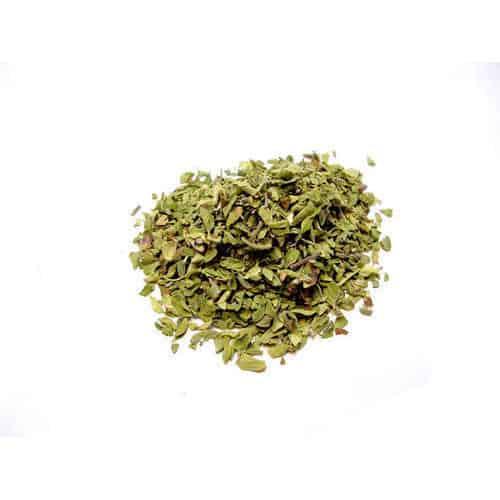 A pile of dried oregano