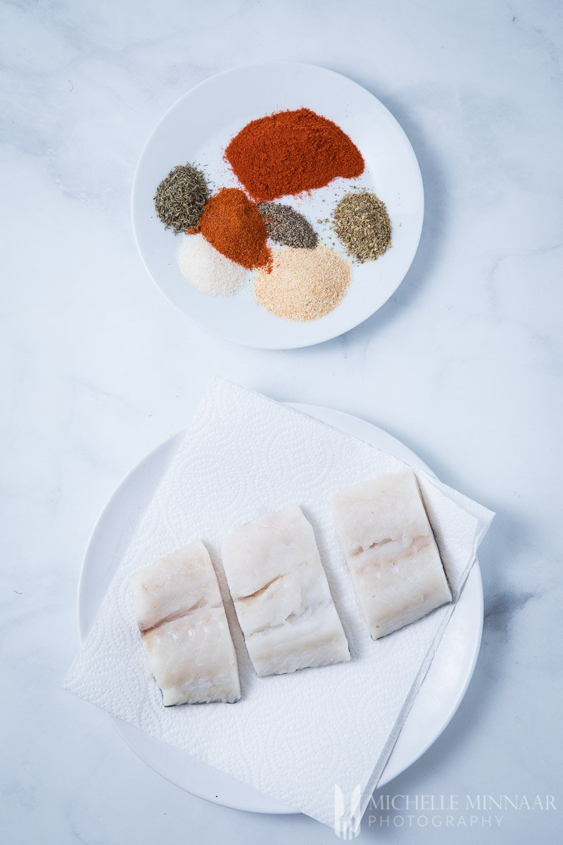 Cod Spices Raw