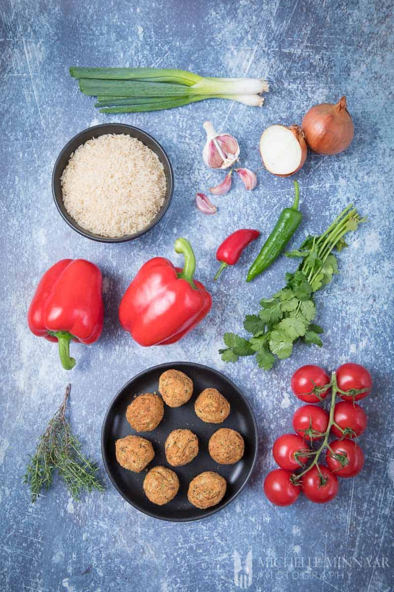 Rice Falafel Red pepper