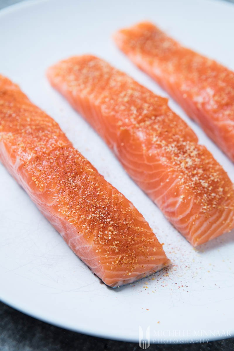 Salmon Fillets Spiced
