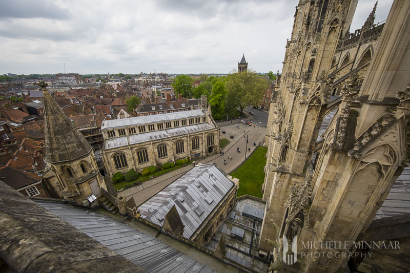 A view of the city from the minster, one of the best things to do in York
