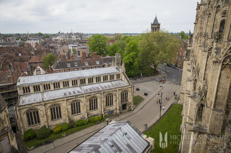 A city view of York and the minster