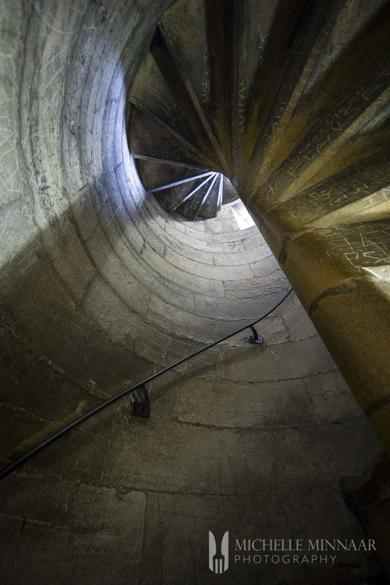 A spiral staircase in York