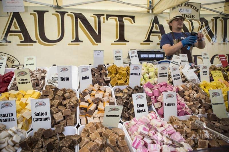Vendor selling fudge in York